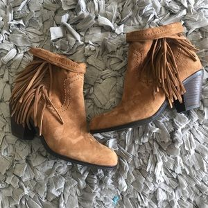 Sam Edelman Louie-Trimmed Ankle Booties
